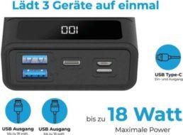 Ebay: Powerbank mit 20.000 mAh für 22 Euro frei Haus