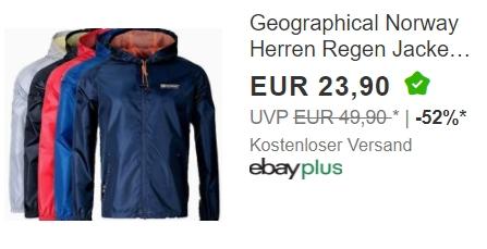 """Ebay: Regenjacke von """"Geographical Norway"""" für 23,90 Euro frei Haus"""