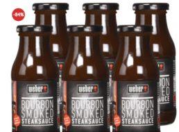 "Dealclub: Sechserset ""Weber Bourbon Smoked Steaksauce"" für 7,77 Euro frei Haus"