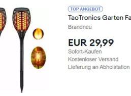 Ebay: Doppelpack Gartenfackeln von Taotronics für 29,99 Euro