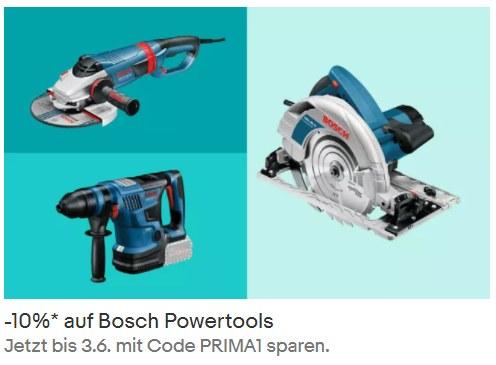 """Ebay: 10 Prozent auf """"Bosch Professional"""" plus Gratis-Werkzeug"""