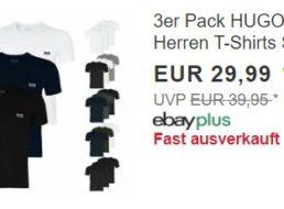 Hugo Boss: Dreierpack T-Shirts für 29,99 Euro frei Haus