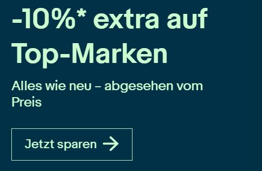 Ebay: B-Ware mit 10 Prozent Rabatt für wenige Tage