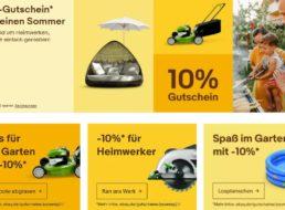 Ebay: 10 Prozent Rabatt auf Grills, Pflanzen und weitere Sommerartikel
