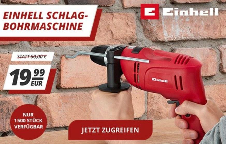 Druckerzubehoer.de: Einhell-Schlagbohrer für 19,99 Euro