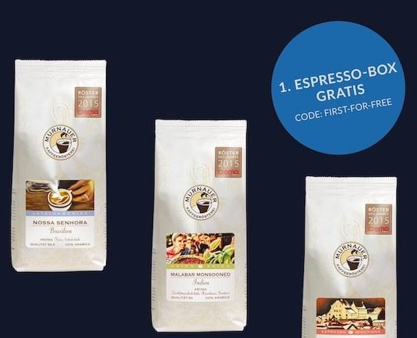 Gratis: Espressobox im Flexabo für 0 Euro frei Haus