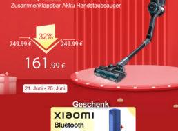 Wieder da: Klappbarer Akku-Handstaubsauger für 161,99 Euro