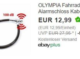 Ebay: Fahrradschloss mit Alarm (100 Dezibel) für 12,99 Euro