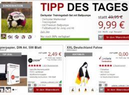 Druckerzubehoer.de: Trainingsball-Set und Deutschlandfahne für 9,99 Euro