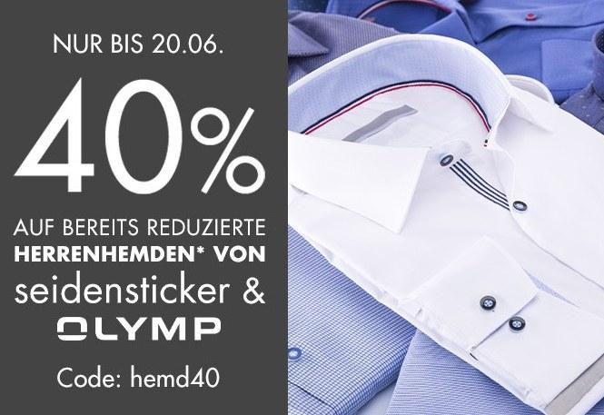 Galeria: 40 Prozent Rabatt auf Sale-Hemden von Seidensticker & Olymp