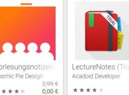 """Gratis: App """"Vorlesungsnotizen"""" für 0 statt 2,99 Euro"""