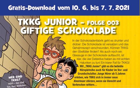 "Gratis: TKKG-Folge 003 ""giftige Schokolade"" zum Download"