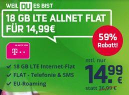 Mobilcom: Telekom-Tarif mit 18 GByte Datenvolumen für 14,99 Euro