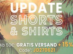 Jeans Direct: Acht Mustang-Shirts für 50,98 Euro frei Haus