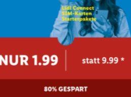 Lidl Plus: SIM-Karte mit 10 Euro Guthaben für 1,99 Euro