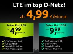 LTE-Schnäppchen: Datenflat im Vodafone-Netz mit 5 GB für 4,99 Euro
