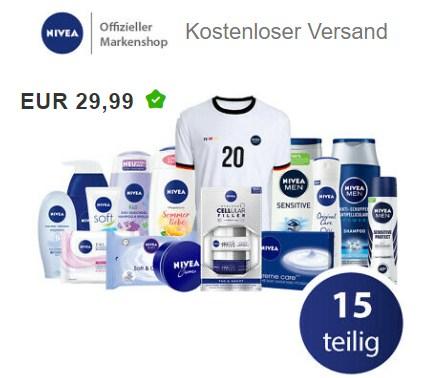 Ebay: EM-Familienset von Nivea inklusive Shirt für 29,99 Euro