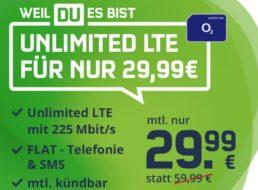O2: Unlimitierte Datenflat mit Deezer und monatlicher Kündbarkeit für 29,99 Euro
