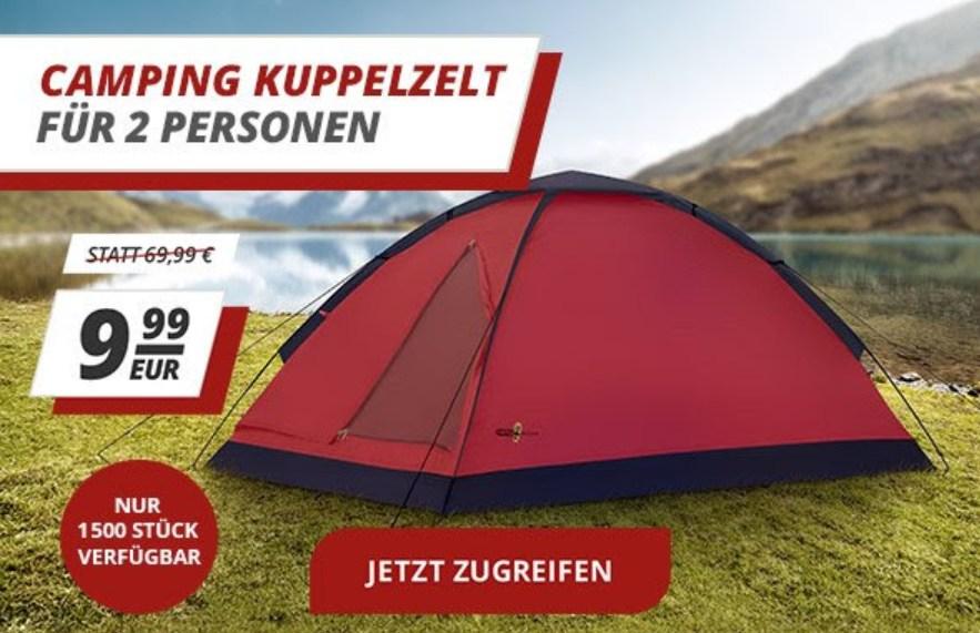 Druckerzubehoer.de: Kuppelzelt für zwei zum Preis von 9,99 Euro