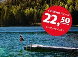 DB: Sommer-Ticket für vier Fahrten zum Gesamtpreis ab 70 Euro