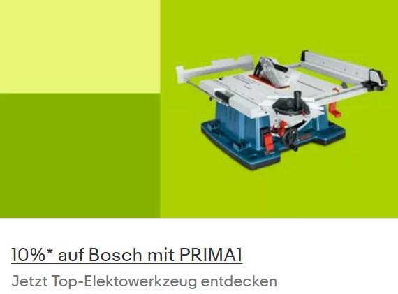 Ebay: Zehn Prozent Rabatt auf 200 Artikel von Bosch Professional