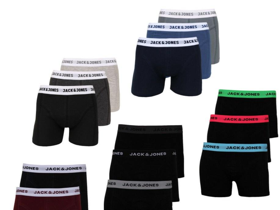Jack & Jones: Boxershorts im Sechserpack für 29,95 Euro frei Haus