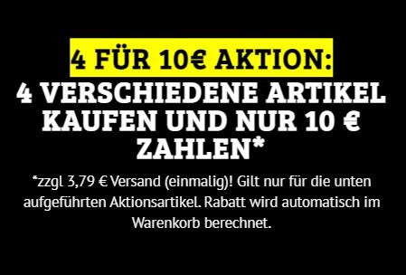 Dealclub: Vier Artikel nach Wahl für 13,79 Euro frei Haus