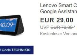 Ebay: Lenovo Smart Clock für 26,10 Euro frei Haus