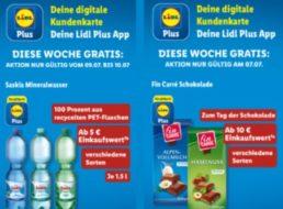 """Gratis: Schokolade und Wasser via """"Lidl Plus"""" zum Nulltarif"""