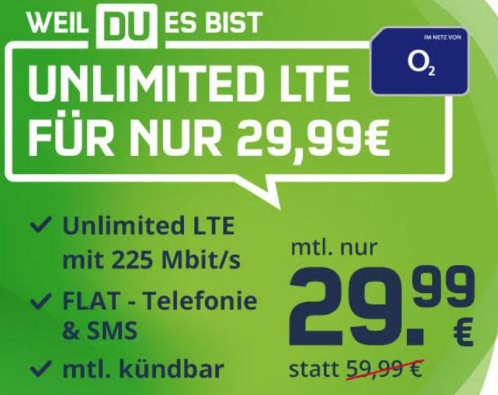 Mobilcom: Unlimited-Datentarif mit monatlicher Kündbarkeit für 29,99 Euro