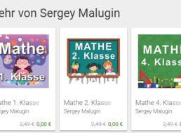 Gratis: 50 Rechenapps von Sergey Malugin für 0 statt je 2,49 Euro