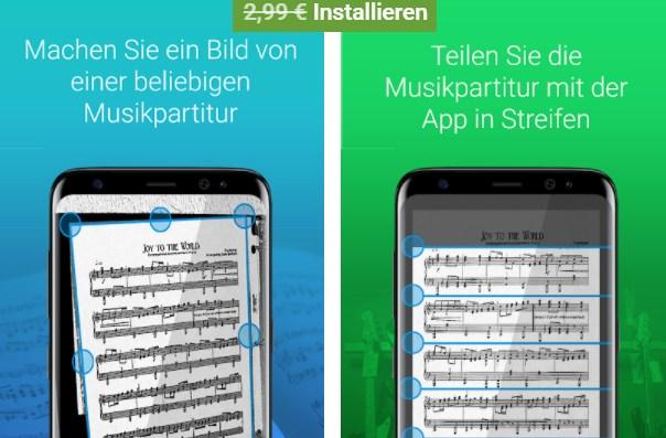 """Gratis: App """"Meine musikalischen Partituren"""" via Google Play zum Nulltarif"""