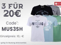 Jeans Direct: Drei Mustang-Shirts zum Preis von zweien