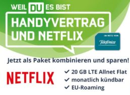 Mobilcom: Monatlich kündbare LTE-Flat mit 20 GByte und Netflix für 26,48 Euro