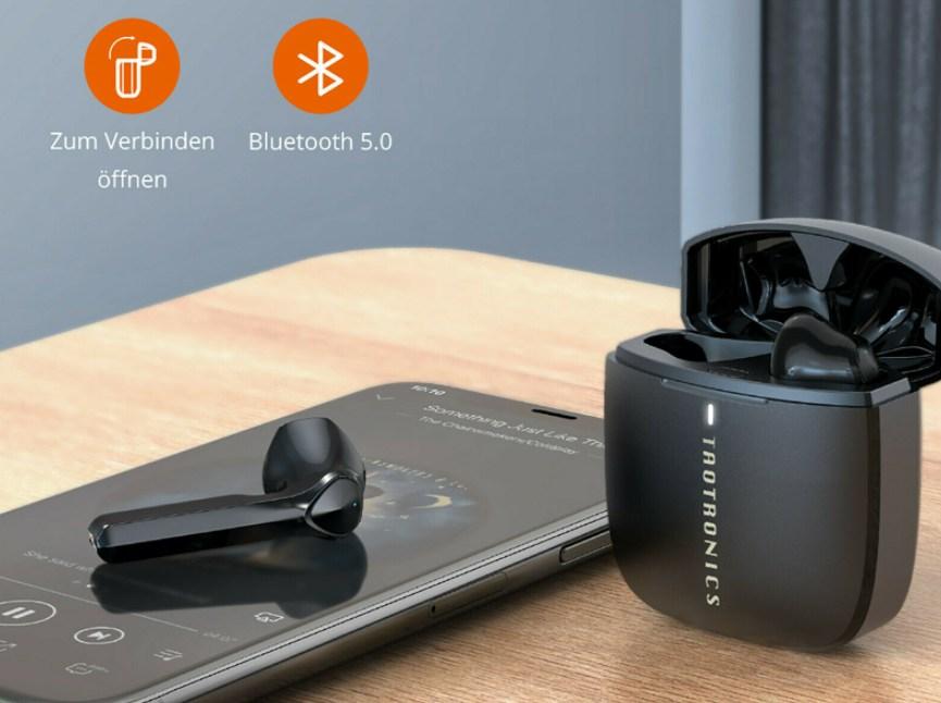 Ebay: Wasserfeste In-Ear-Kopfhörer von Taotronics für 22,99 Euro