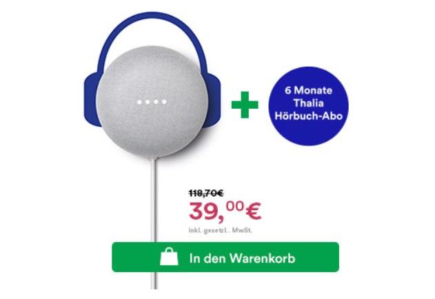 Knaller: 6 Monate Hörbuch-Abo zusammen mit Nest Mini für 39 Euro