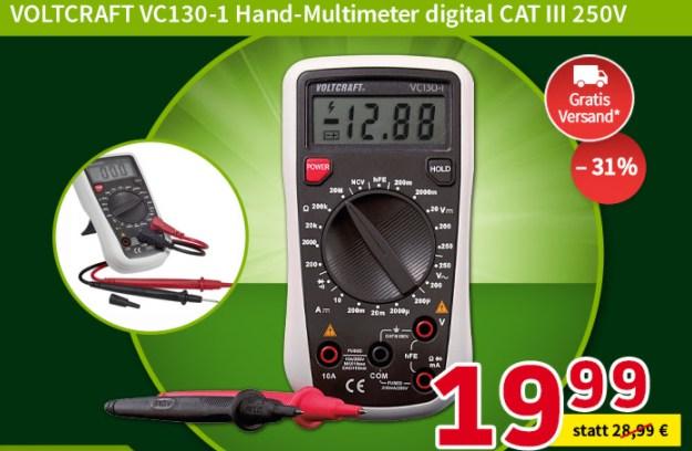 Völkner: Voltcraft-Multimeter VC130-1 für 19,99 Euro frei Haus