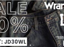 Jeans Direct: 30 Prozent Rabatt auf Sale-Artikel von Lee und Wrangler