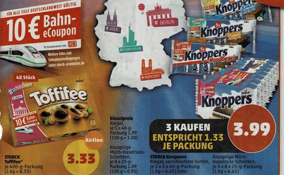 Penny: Storck-Produkte zum Aktionspreis mit Bahn-Gutschein