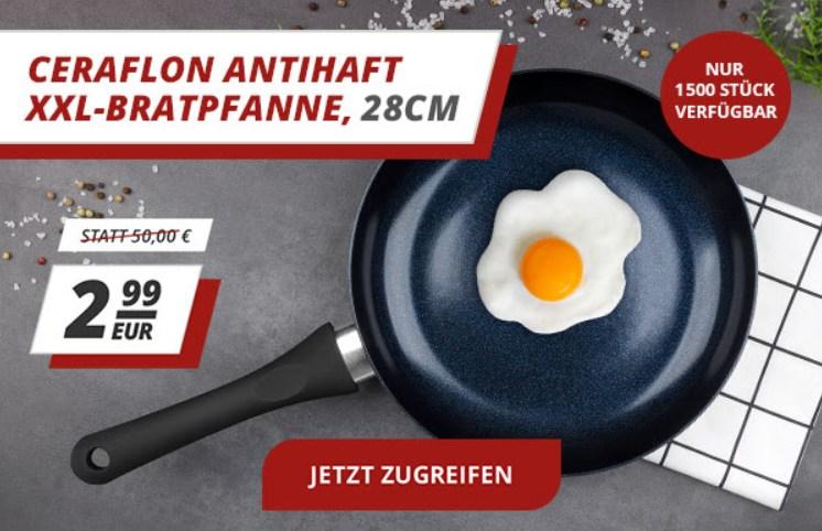Druckerzubehoer.de: Antihaft-Bratpfanne für 2,99 Euro