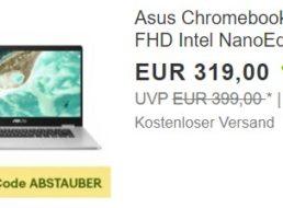 Asus: Chromebook C523NA für 287,10 Euro frei Haus