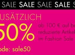 Galeria: 50 Prozent Rabatt auf reduzierte Sale-Artikel