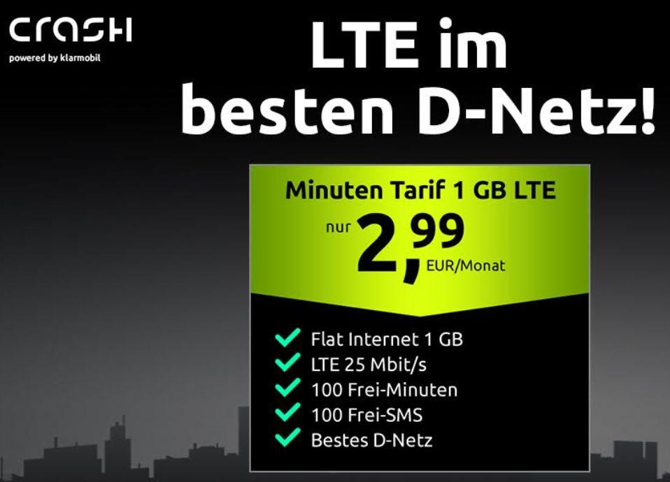 Knaller: 1 GByte im Telekom-Netz und 100 Freiminuten für 2,99 Euro