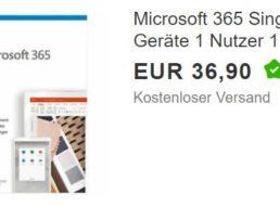 Ebay: Office 365 Single für 36,90 Euro frei Haus