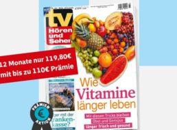 """""""TV Hören und Sehen"""": Jahresabo für 119,80 Euro mit Gutschein über 120 Euro"""