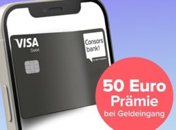 Consorsbank: 100 Euro Bonus für kostenloses Girokonto