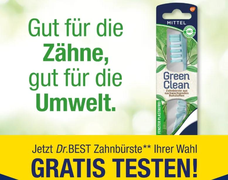 """Gratis: Zahnbürste von """"Dr. Best"""" via Cashback zum Nulltarif"""
