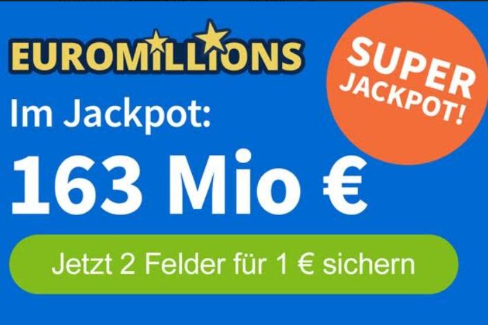 EuroMillions: Rabattierter Systemschein für Rekordjackpot von 163 Millionen