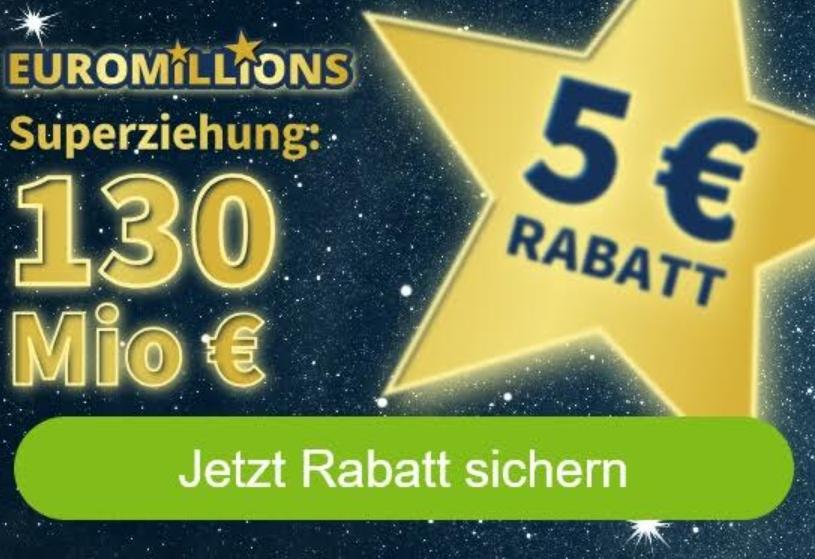 Euromillions: Sonderziehung mit 130 Millionen Euro im Jackpot
