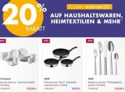 Galeria: Küchenartikel und Heimtextilien mit 20 Prozent Rabatt